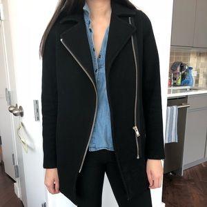 Aritzia wool coat black